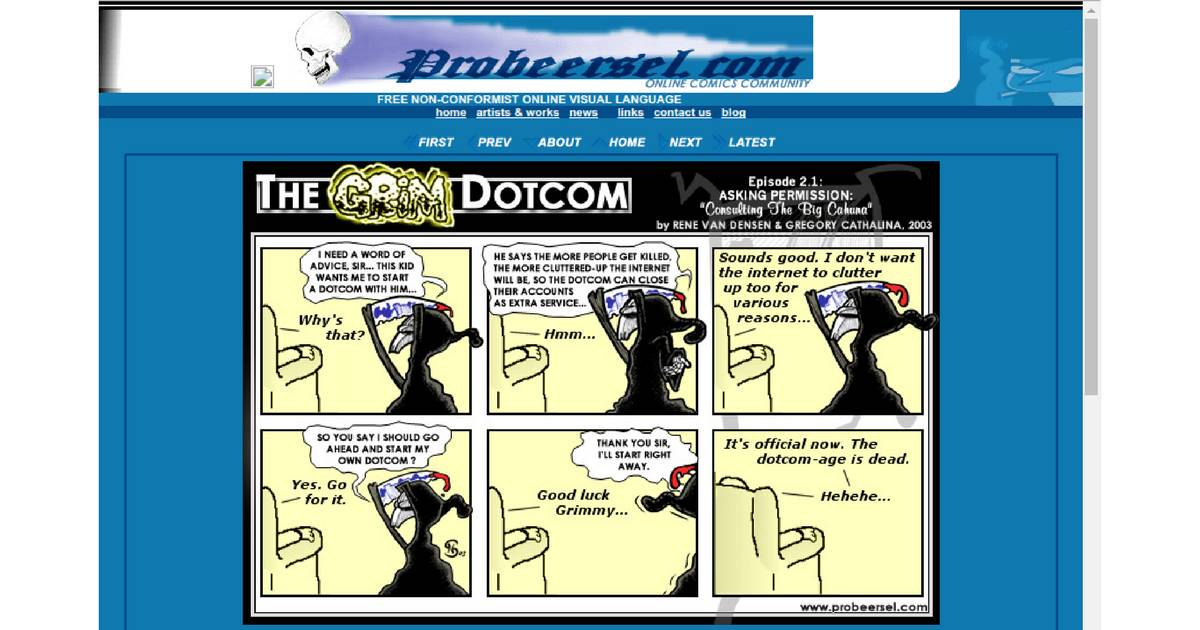 Screenshot: http://www.probeersel.com/comics.shtml?the_grim_dotcom