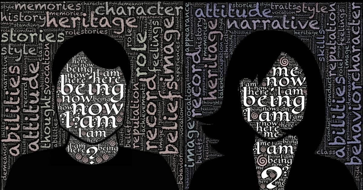 Zwei Gesichter und die Frage: Identität: Wie wird sie konstruiert?