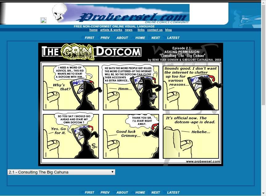 """Screenshot """"The Grim Dotcom"""""""