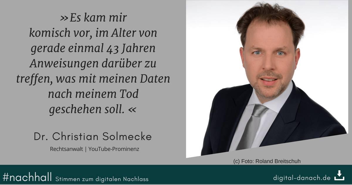 Christian Solmecke Pressefoto (c) Foto: Roland Breitschuh