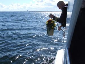 Eine Seebestattung des Bestattungshauses Lociks