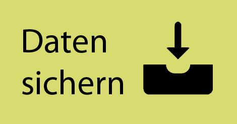 """Download-Illustration mit Schriftzug """"Daten sichern"""""""