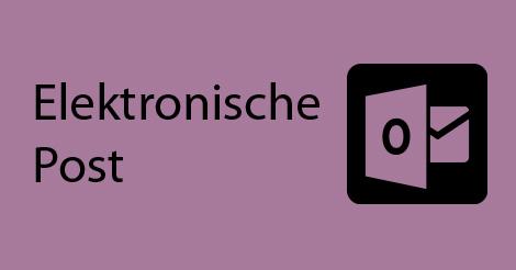 """Beitragsbild mit Schriftzug """"Elektronische Post"""""""