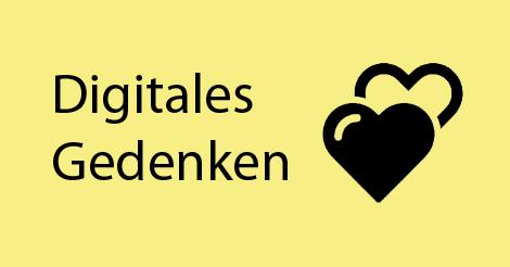 """Beitragsbild mit Schriftzug """"Digitales Gedenken"""""""