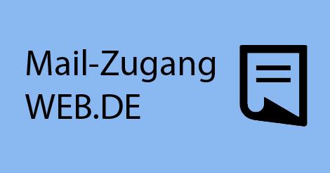 """Illustration eines Briefs mit Beschriftung """"Mail-Zugang WEB.DE"""""""