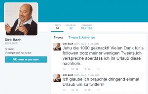 Dirk bach auf Twitter