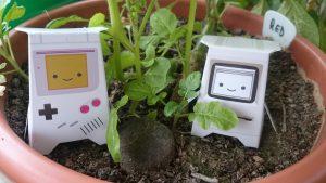Chatbots in the Garden 2 by Dennis Schmolk.
