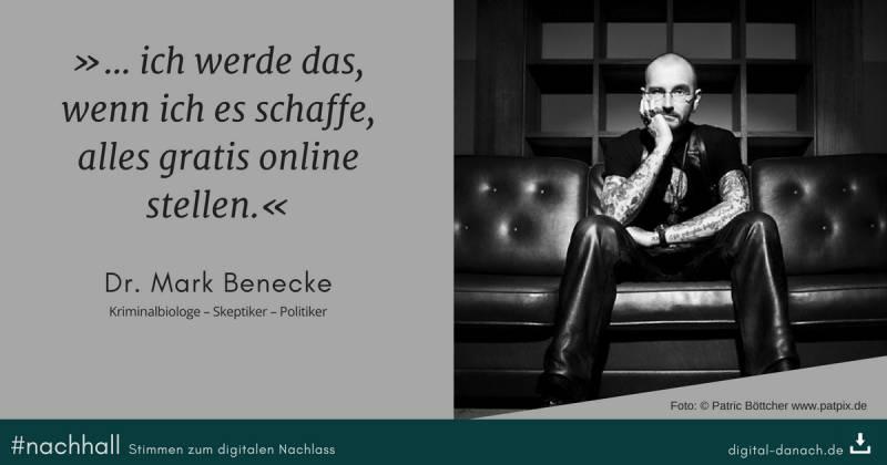 Nachhall Mark Benecke