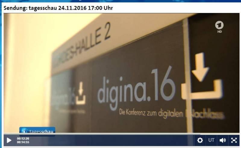 Screenshot #digina16 Tagesschau
