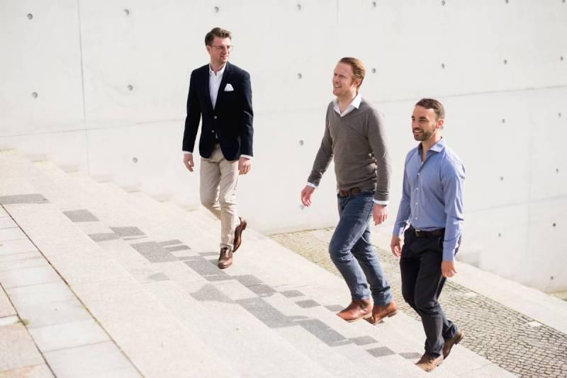 Das Gründerteam. V.l. Björn Krämer, Peter Kautz, Heiko Reintsch.
