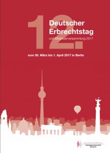 Cover: Programm 12. Deutscher Erbrechtstag